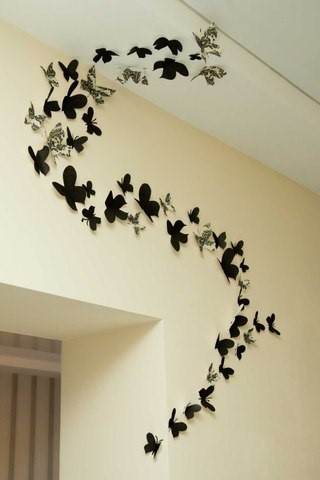 Прикраса з метеликів на стіну. Як з паперу зробити метелика своїми руками на стіну: шаблони, трафарети для роздрукування і вирізання, фото