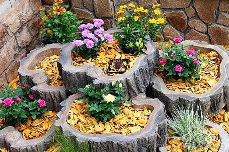 Оформлення домашніх квітників з підручного матеріалу. Клумби з підручних матеріалів-оригінальні квітники в саду