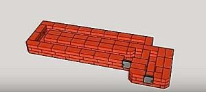 Ракетна піч з цегли для вулиці і будинку. Цегляні ракетні печі піч ракета з 20 цегли