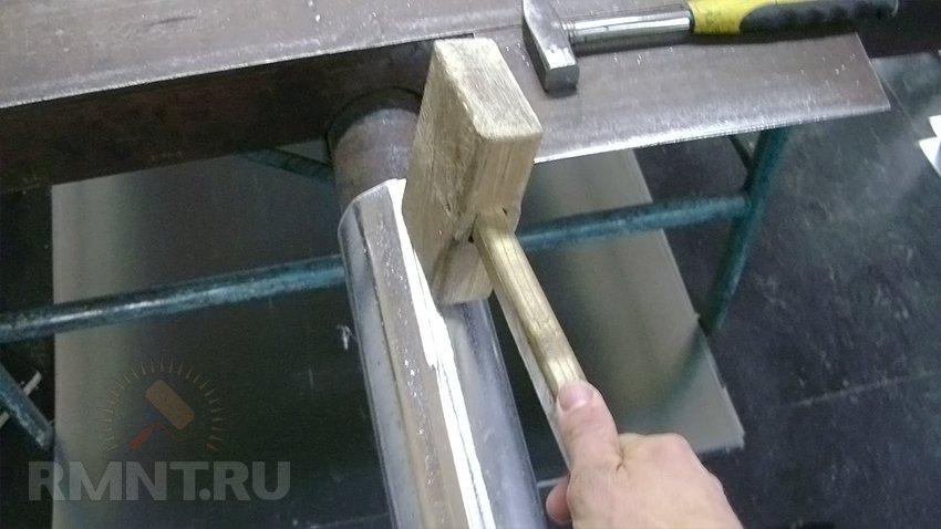 Як зробити трубу з жерсті. Як зробити відро своїми руками з жерсті