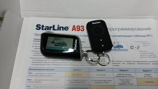 Автосигналізація starline a93: відгуки власників, інструкція із застосування і характеристики. Автосигналізація starline a93 can lin з автозапуском: відгуки