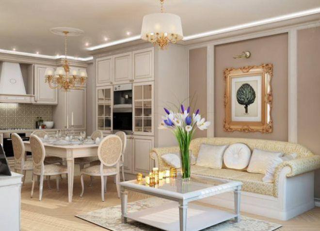 Проект інтерєру будинку в класичному стилі. Інтерєр в стилі сучасної класики
