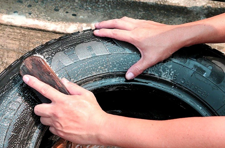 Як зробити гойдалки з автомобільної шини. Як швидко і красиво зробити гойдалки з покришок? відео виготовлення найпростішої гойдалки з коліс