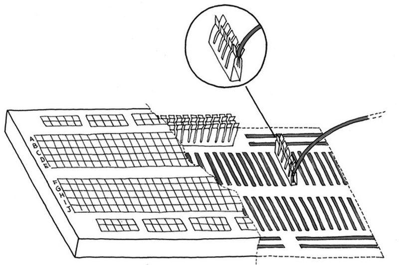 Як користуватися макетною платою (breadboard). Макетна плата
