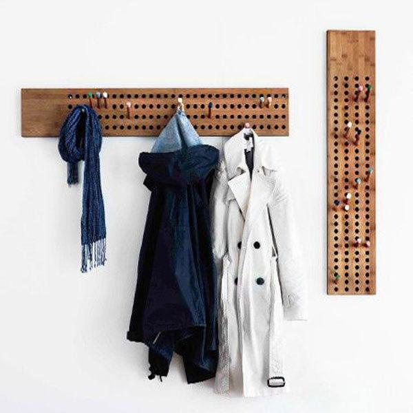 Вішалка настінна своїми руками. Підлогова вішалка для одягу (47 фото): все для улюблених речей